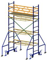 Вышка передвижная, высота 4,3м, размер площадки 2х0,7м.