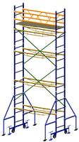 Вышка передвижная, высота 6,3м, размер площадки 2х0,7м.