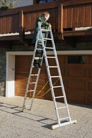 Лестница двухсекционная алюминиевая бытовая ITOSS 2x9 ступеней