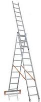 Лестница трехсекционная алюминиевая  FORTE 3x10 ступеней