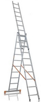 Лестница трехсекционная алюминиевая  FORTE 3x9ступеней