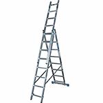 Лестница трехсекционная алюминиевая FORTE 3x7 ступеней
