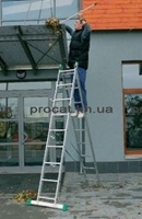 Лестница двухсекционная алюминиевая бытовая ITOSS 2x11 ступеней