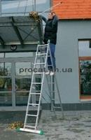 Лестница двухсекционная алюминиевая бытовая ITOSS 2x7 ступеней