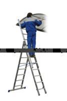 Лестница алюминиевая 3-х секционная VHR H3x8 4,8м