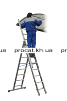 Лестница алюминиевая 3-х секционная VHR H3x9 5,3м